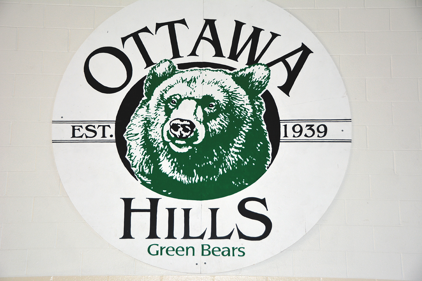 Picture of Greenbear Sign in the Gym